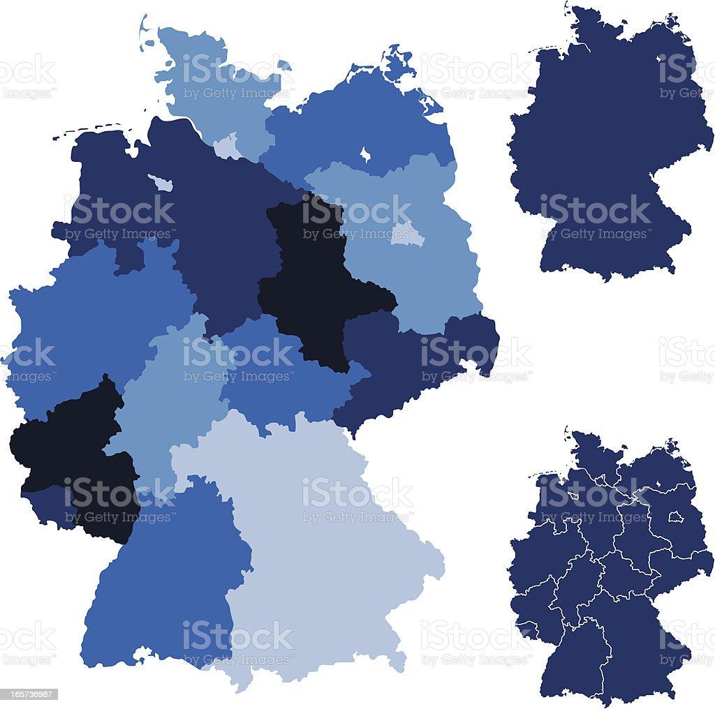 Maps Of Germany Indicating Internal Regions stock vector art