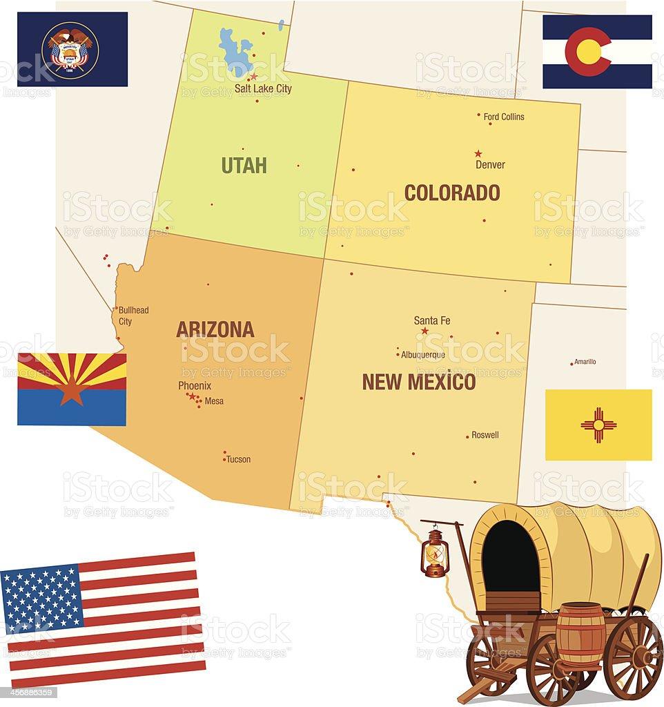 USA Maps royalty-free stock vector art