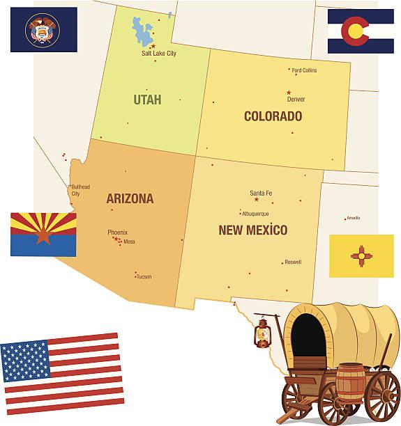 USA Maps vector art illustration