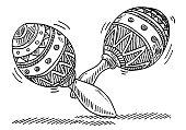 Maracas Carnival Music Instrument Drawing