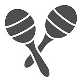 Maracas glyph icon, music and mexican, instrument sign, vector graphics, a solid pattern on a white background, eps 10.