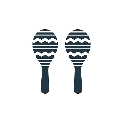 maracas icon. Glyph maracas icon for website design and mobile, app development, print. maracas icon from filled carnival collection isolated on white background..