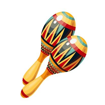 Maracas icon, musical instrument of maraca.