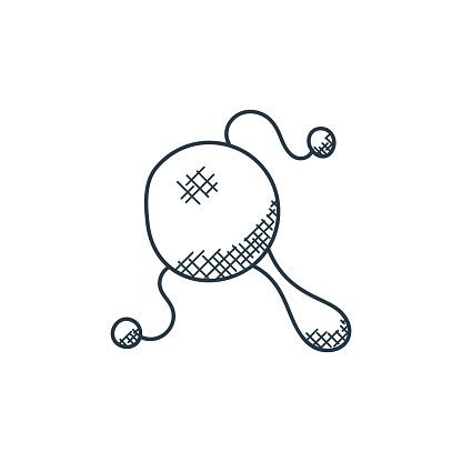 maracas icon vector from music concept. Thin line illustration of maracas editable stroke. maracas linear sign for use on web and mobile apps, logo, print media..