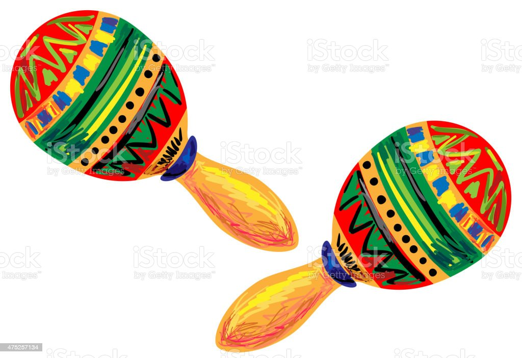 royalty free maracas clip art vector images illustrations istock rh istockphoto com maracas clipart black and white mexican maracas clipart