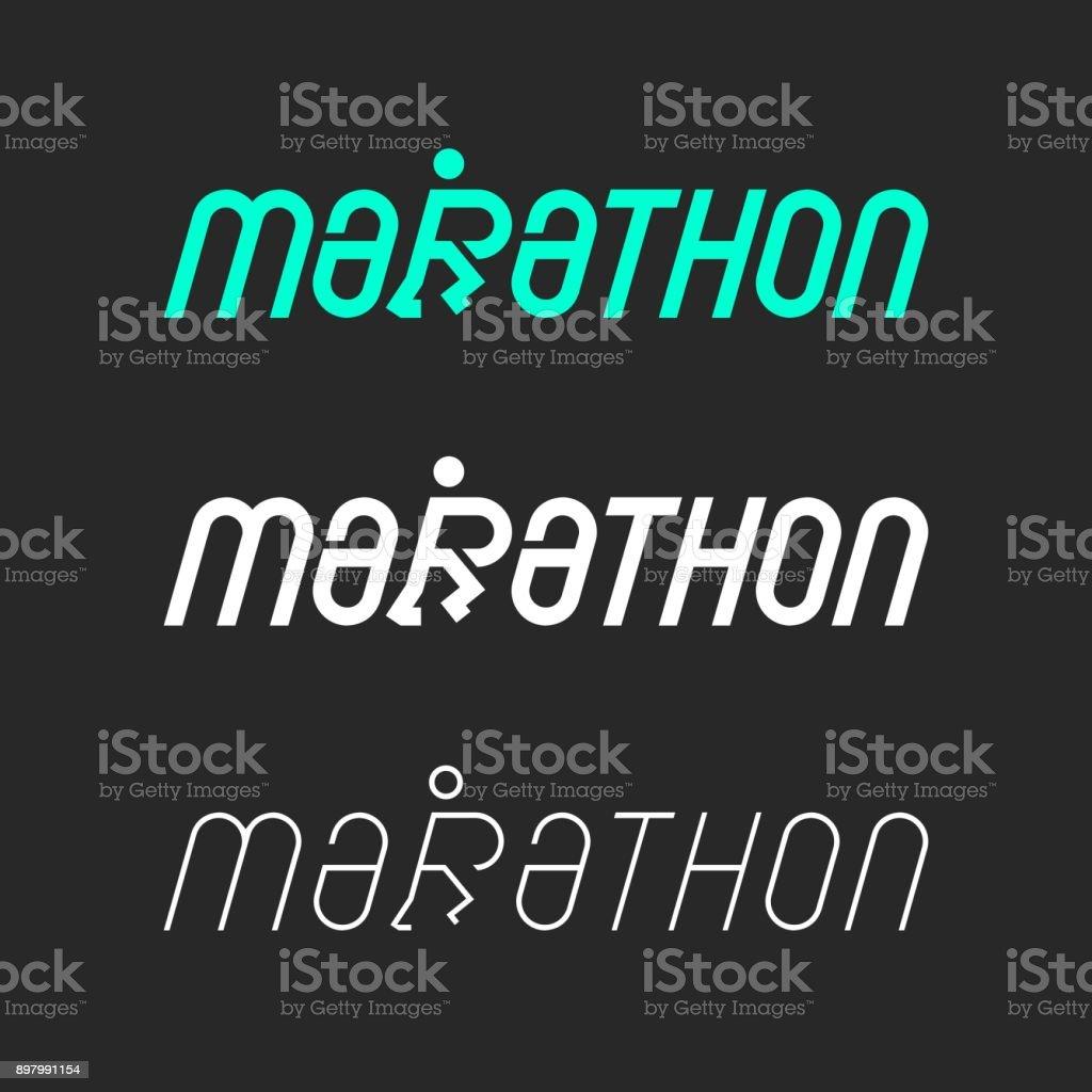 Marathon - Typography Series royalty-free stock vector art