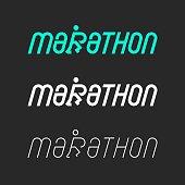 Marathon Typography Series Vector EPS File.