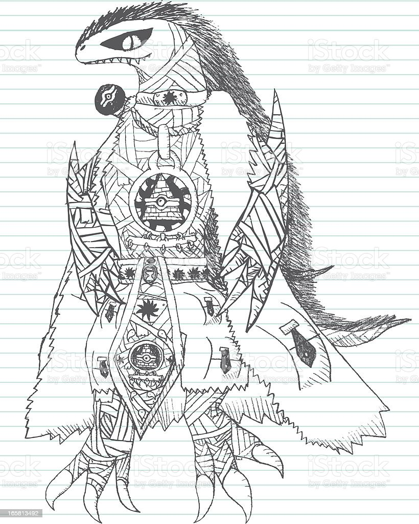 Marauding Warrior Sketch Doodle