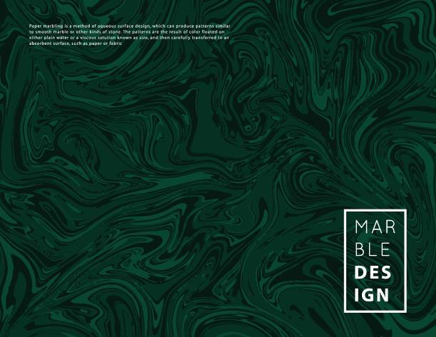 Marble abstract art background vector Marble art pattern. Modern liquid texture.Abstract background template. Good for design covers, presentation, invitation, flyers, posters, business cards and  social media.Green malachite malachite stock illustrations