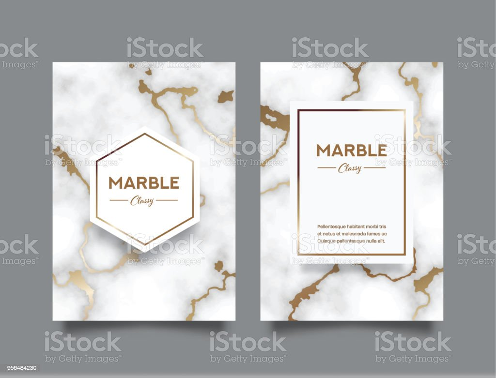 Book Cover Designing Free ~ Marble abstract background business book cover design template stock