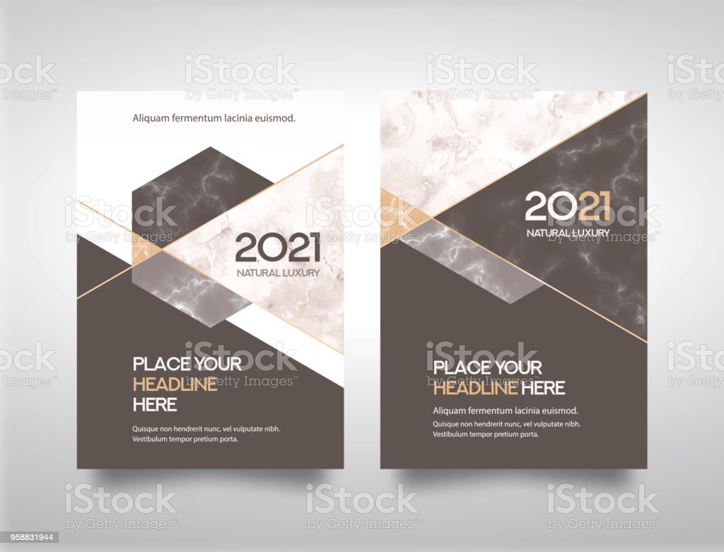 marble abstract background business book cover design template stock