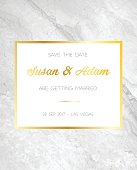 Marble background invitation card