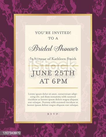 Invite template on a marble