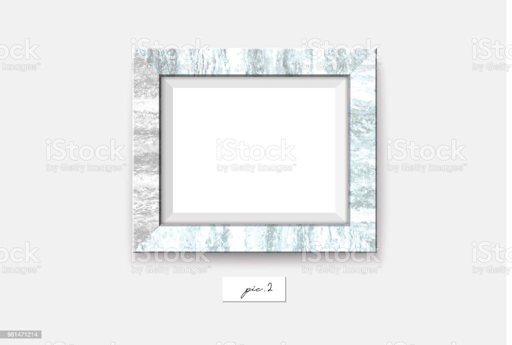 Marmorrahmen Isoliert Auf Weißem Hintergrund Vektorillustration Wand ...