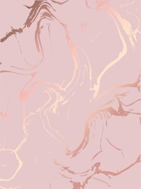 stockillustraties, clipart, cartoons en iconen met marmeren afbeelding achtergrond met rose gouden marmer. sjabloon voor vakantie ontwerpen, card, uitnodiging, feest, verjaardag, bruiloft, babydouche, bewaar deze datum, verjaardag. - breekbaarheid