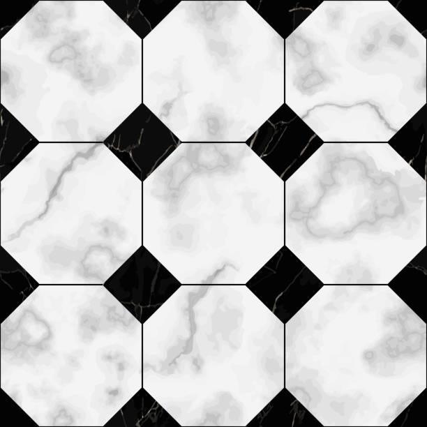 marmor-luxus-check nahtlose muster - granitplatten stock-grafiken, -clipart, -cartoons und -symbole