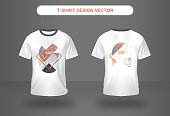 Marble Nature ElementT-shirt Vector Design front and back view.