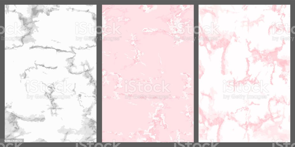 Marble Vector Cover Pink White And Silver Cute Luxury