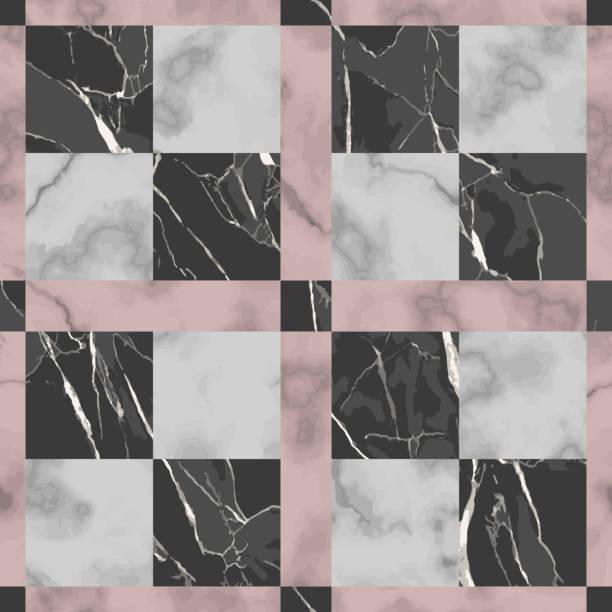 marmor-vector textur luxus-check seamless muster - granitplatten stock-grafiken, -clipart, -cartoons und -symbole
