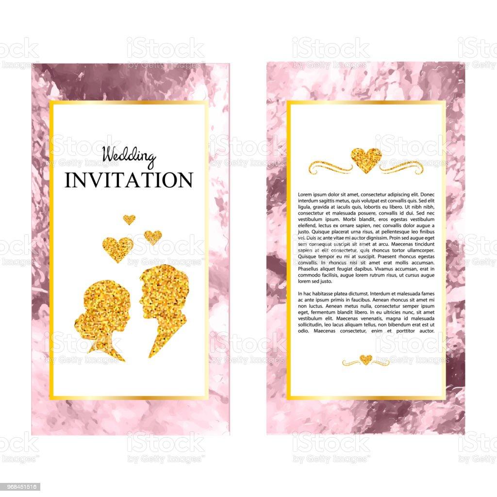Marbre Invitations De Mariage Carte Merci RSVP Cartes Visite