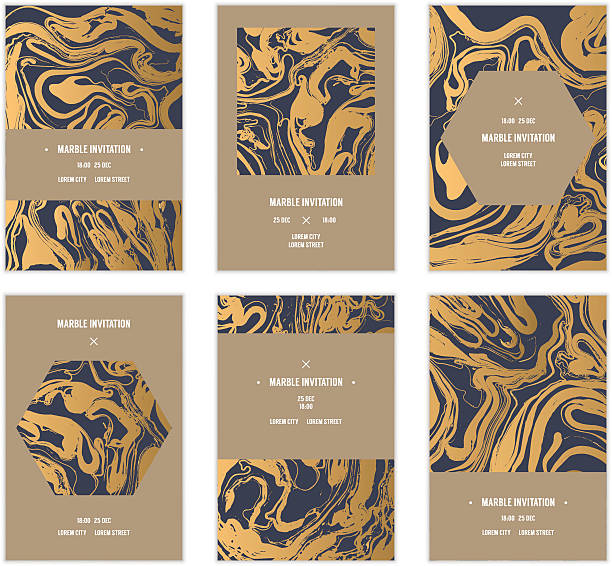 Marbled cards. – Vektorgrafik