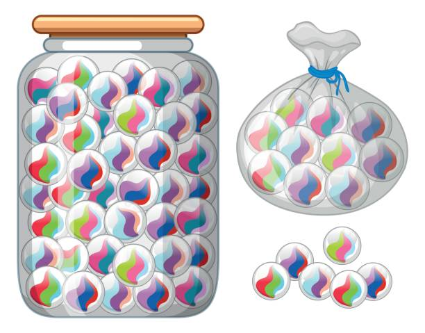 Jar Of Marbles Story : Royalty free jar of marbles clip art vector images