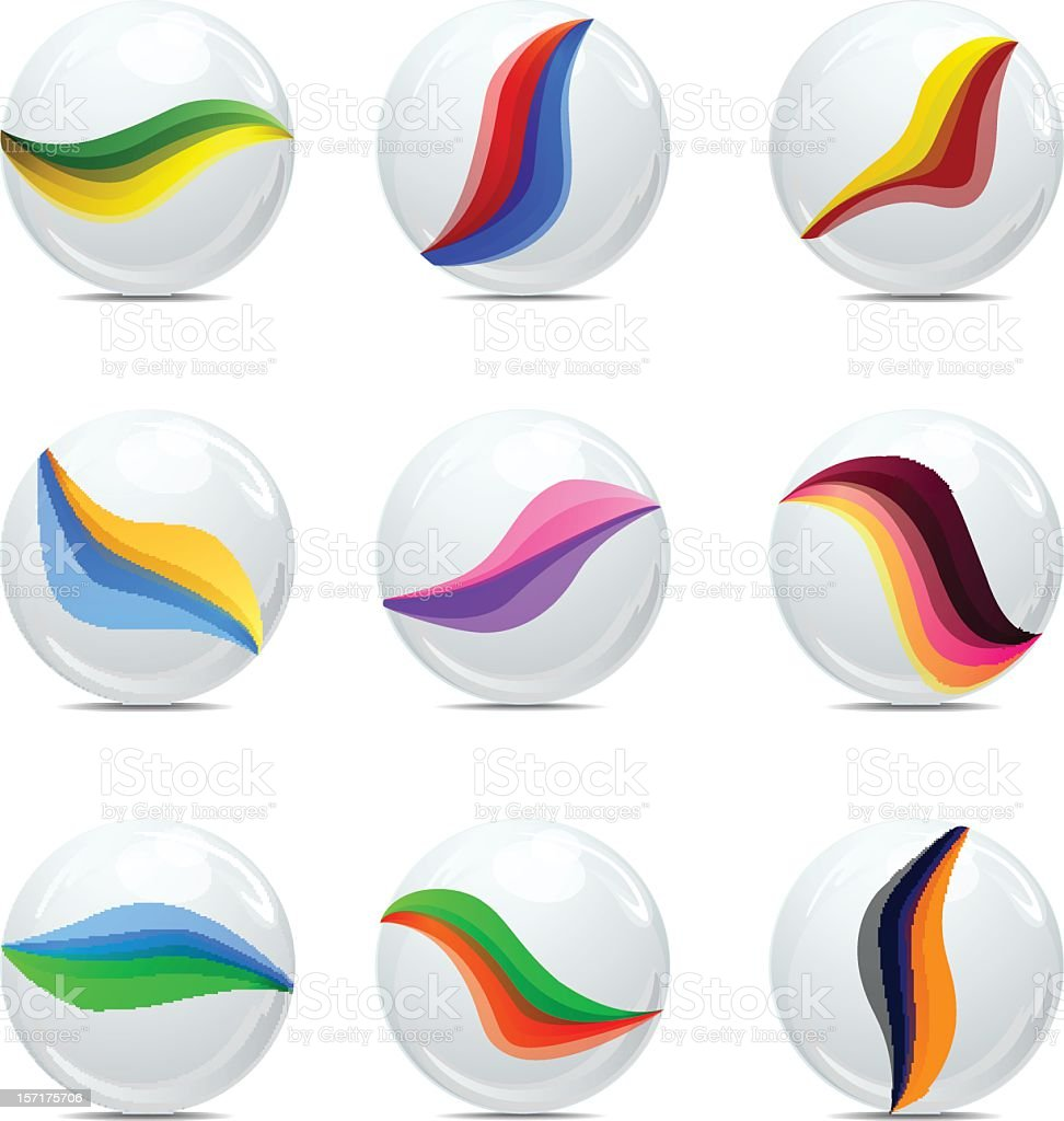marbles vector art illustration