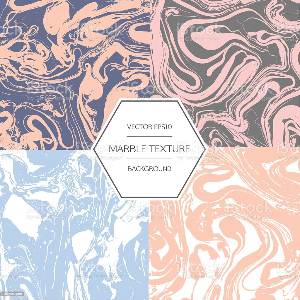Marbling effect. vector art illustration