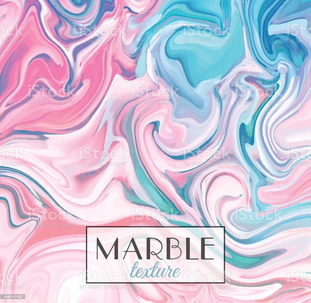 Marbling. Marble texture. Vector abstract colorful background. Paint splash vector art illustration