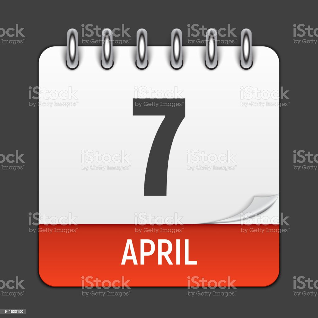March 17 Calendar Daily Icon World Health Day Vector Illustration