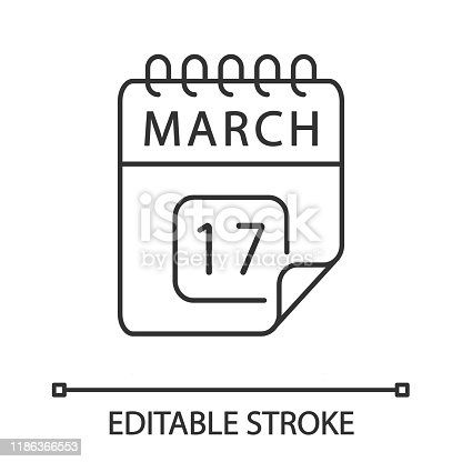 istock March 17 linear icon 1186366553