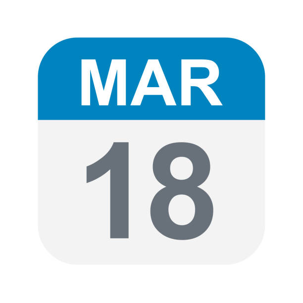 18 mart - takvim simgesini - 18 mart stock illustrations, clip art, cartoons, & icons