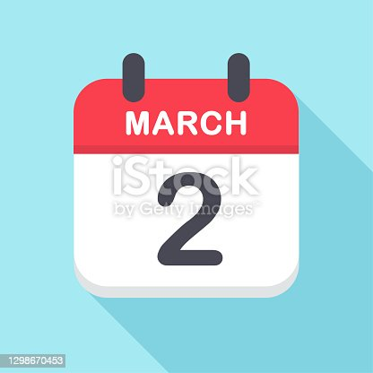 istock March 2 - Calendar Icon- New Year 1298670453