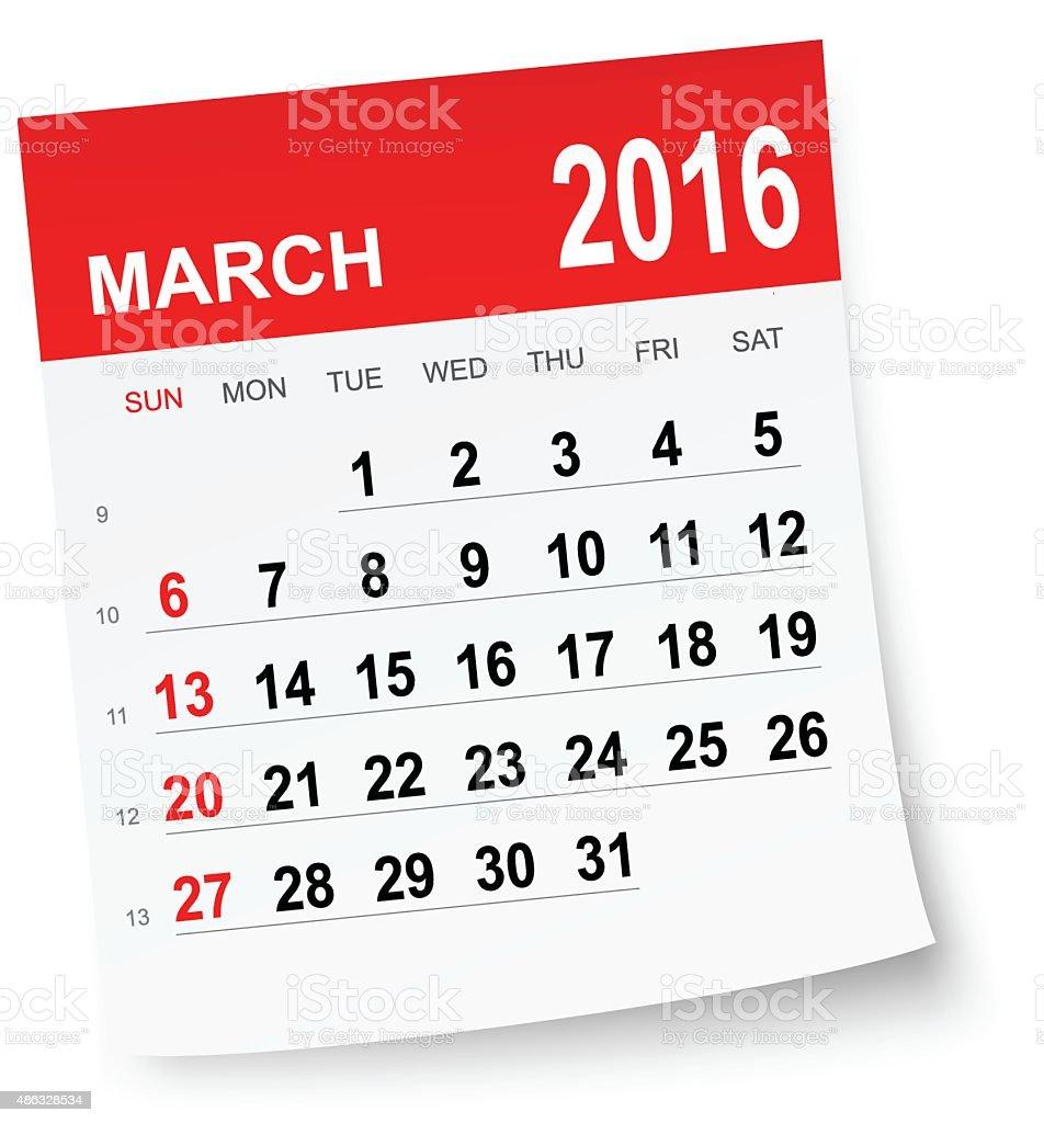 2016 年 3 月のカレンダー 2015年のベクターアート素材や画像を多数ご