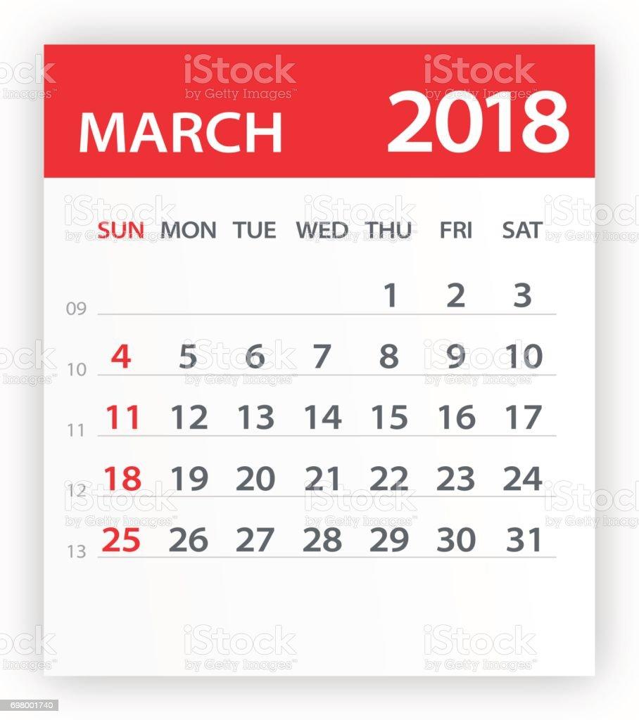 18 年 3 月カレンダー葉 イラスト 18年のベクターアート素材や画像を多数ご用意 Istock