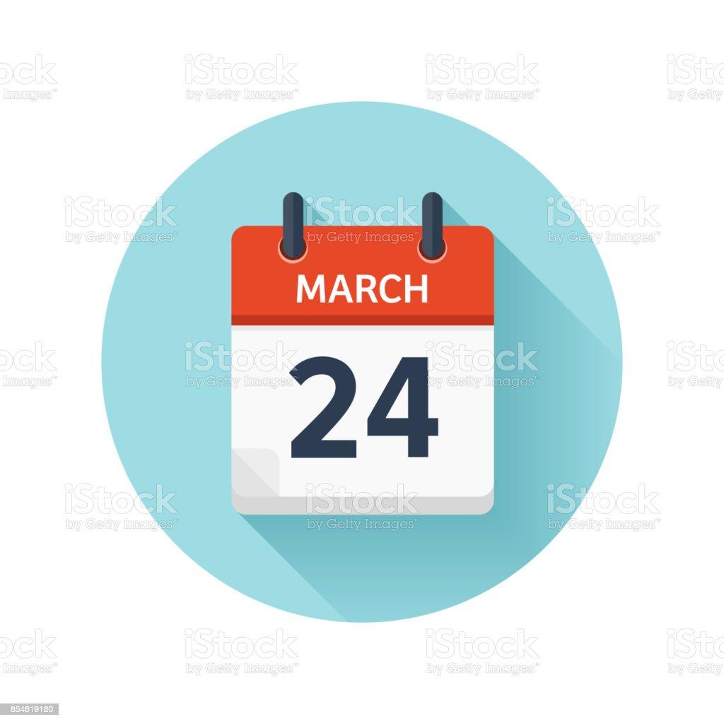 3 月 24 日カレンダーのアイコン...