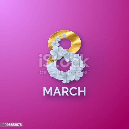 istock March 8. International Women's Day. 1296683678