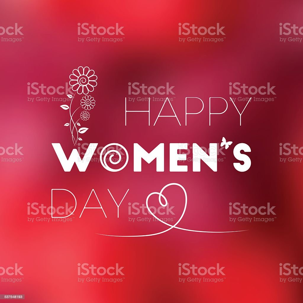 March 8. International Women's Day vector art illustration
