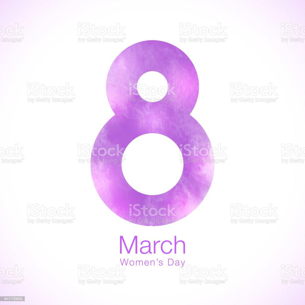 March 8 Womens Day Paper Design Of Greeting Card Template Symbol Of ...