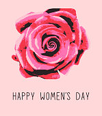 8 march card. International women's day greeting. Floral design. 10 eps. For invitation, brochure, design, web, advertising etc.