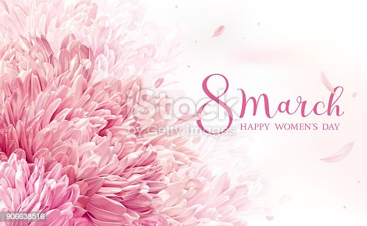 istock 8 March flower greeting card 906638516