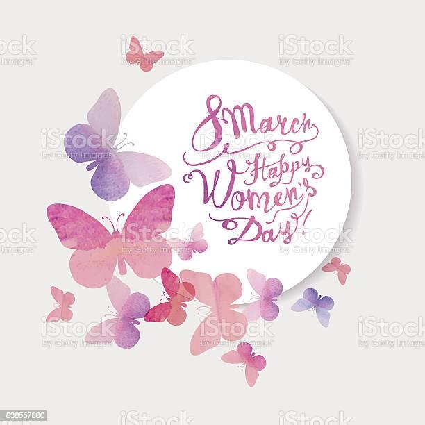 March happy womans day pink watercolor butterflies vector id638557880?b=1&k=6&m=638557880&s=612x612&h=3zje230dcdcringem83t26wivmncyitni cv3w0egw8=