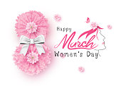 8 March Happy Womens Day vector illustration