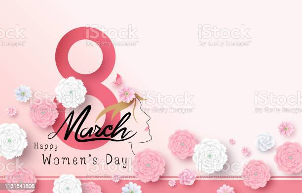 8 March Happy Women's Day vector illustration