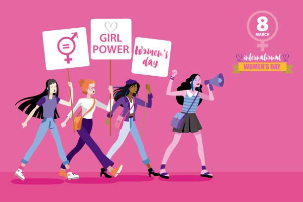 8 3月國際婦女天 - 國際比賽 幅插畫檔、美工圖案、卡通及圖標