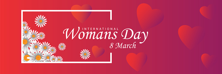 8 March, International Women's Day illustration