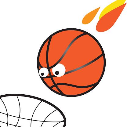 March Madness Basketball Illustration