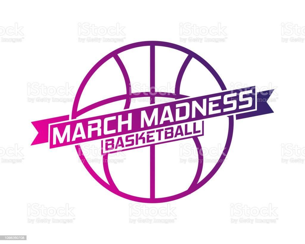 Baloncesto de la locura de marzo ilustración de baloncesto de la locura de marzo y más vectores libres de derechos de abstracto libre de derechos