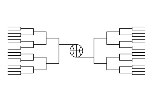 march madness , bracket tournament march line background  vector illustration