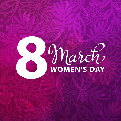8 March Purple Floral Background